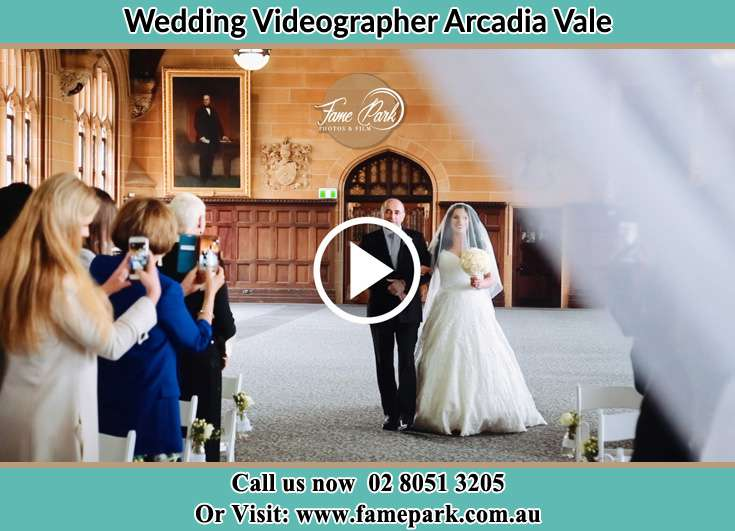 The Bride with her father walking in the aisle Arcadia Vale NSW 2283