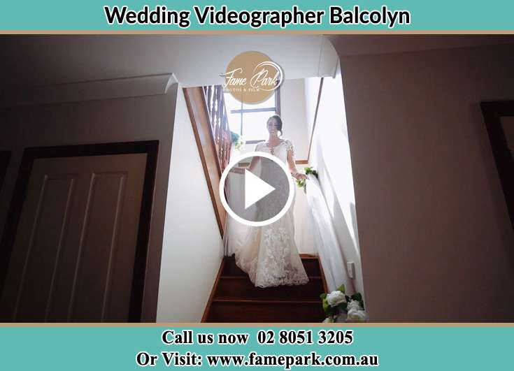 The bride walking down the stair Balcolyn NSW 2264