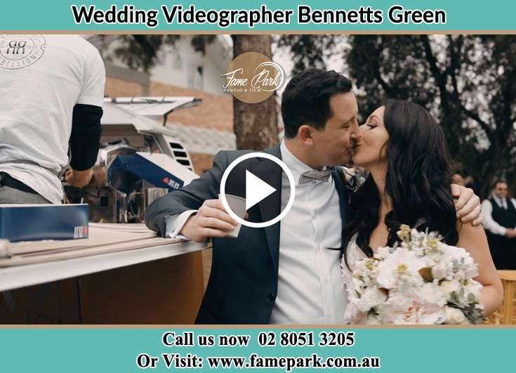 The new couple kissing Bennetts Green NSW 2290