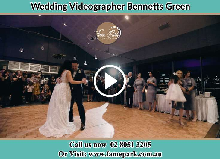 The newlyweds dancing Bennetts Green NSW 2290