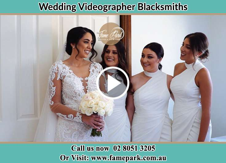Bride and her secondary sponsors Blacksmiths NSW 2281
