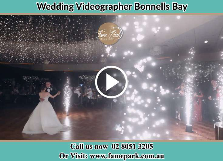 Bride and Groom at the dance floor Bonnells Bay NSW 2264