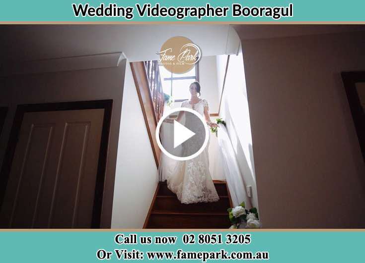 The Bride walking downstairs Booragul NSW 2284