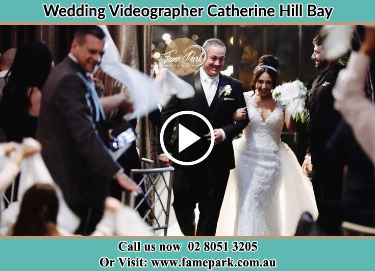 The Bride walking down the aisle with her father Catherine Hill Bay NSW 2281