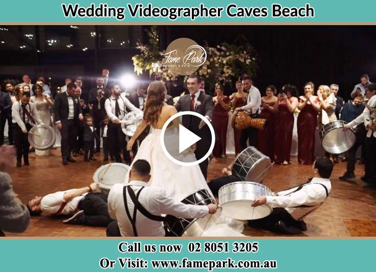 Bride and Groom at the dance floor Caves Beach NSW 2281