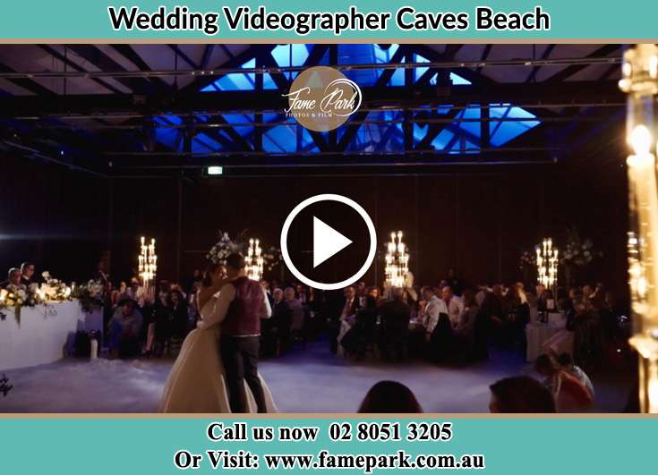 The newlyweds dancing Caves Beach NSW 2281