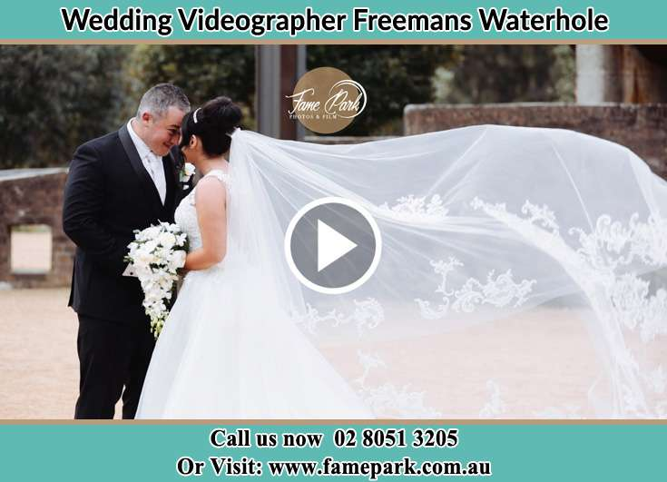 The newlyweds looking at each other Freemans Waterhole NSW 2323