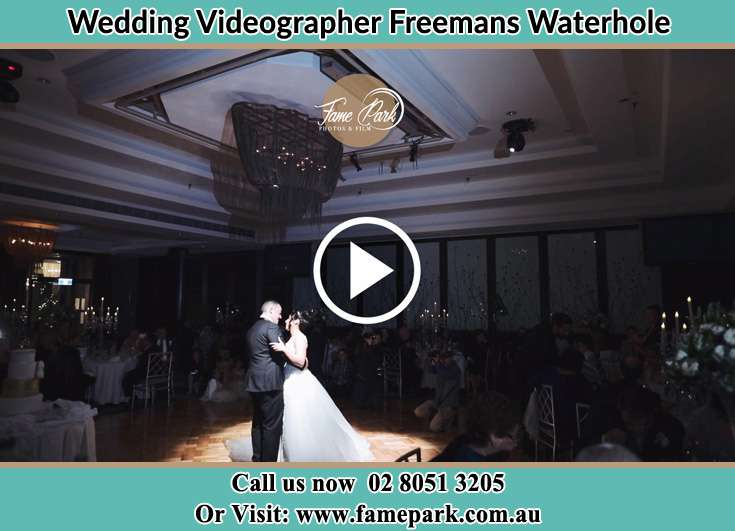 The newlyweds dancing Freemans Waterhole NSW 2323