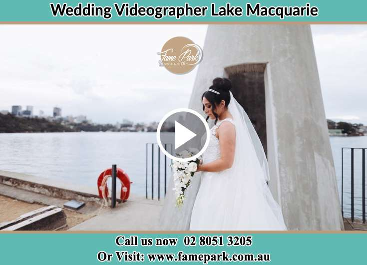 Bride At The Tower near the Harbor Lake Macquarie