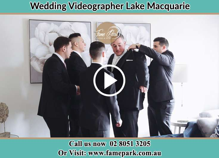 The Groom Being Ready In Suits Lake Macquarie
