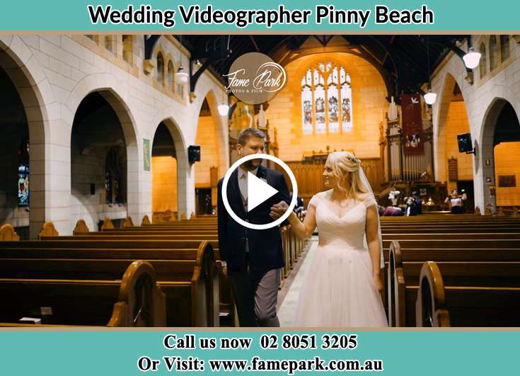 The Groom and the Bride walking Pinny Beach NSW 2281