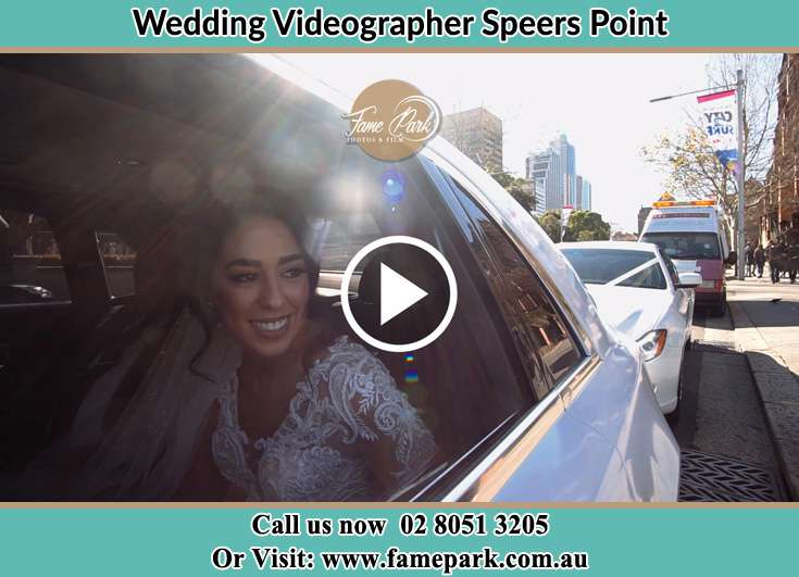 The Bride inside the wedding car Speers Point NSW 2284