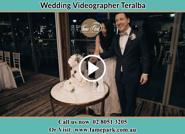 Bride and Groom cutting of cake Teralba NSW 2284