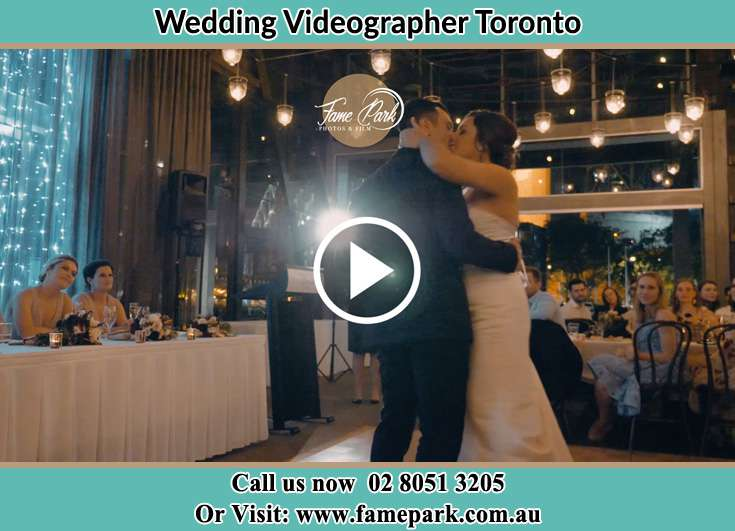 The newly weds kissing at the dance floor Toronto NSW 2283