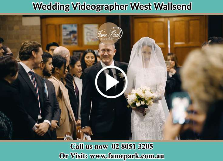 The Bride walking down the aisle with her father West Wallsend NSW 2286
