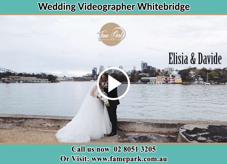 Bride and Groom kissed at the shore Whitebridge NSW 2290
