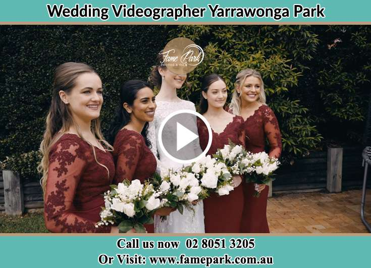 Bride and her secondary sponsors Yarrawonga Park NSW 2264